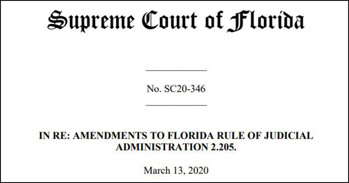 Florida Rules of Judicial Administration